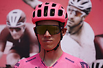 Lawson G Craddock (USA) EF Education-Nippo at sign on before the start of Stage 6 of the 2021 UAE Tour running 165km from Deira Island to Palm Jumeirah, Dubai, UAE. 26th February 2021.  <br /> Picture: Eoin Clarke   Cyclefile<br /> <br /> All photos usage must carry mandatory copyright credit (© Cyclefile   Eoin Clarke)