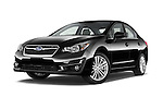 Stock pictures of low aggressive front three quarter view of a 2015 Subaru Impreza 2.0I Premium Auto 4 Door Sedan Low Aggressive