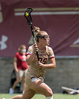 NEWTON, MA - MAY 16: Phoebe Day #29 of Boston College looks to pass during NCAA Division I Women's Lacrosse Tournament second round game between Temple University and Boston College at Newton Campus Lacrosse Field on May 16, 2021 in Newton, Massachusetts.