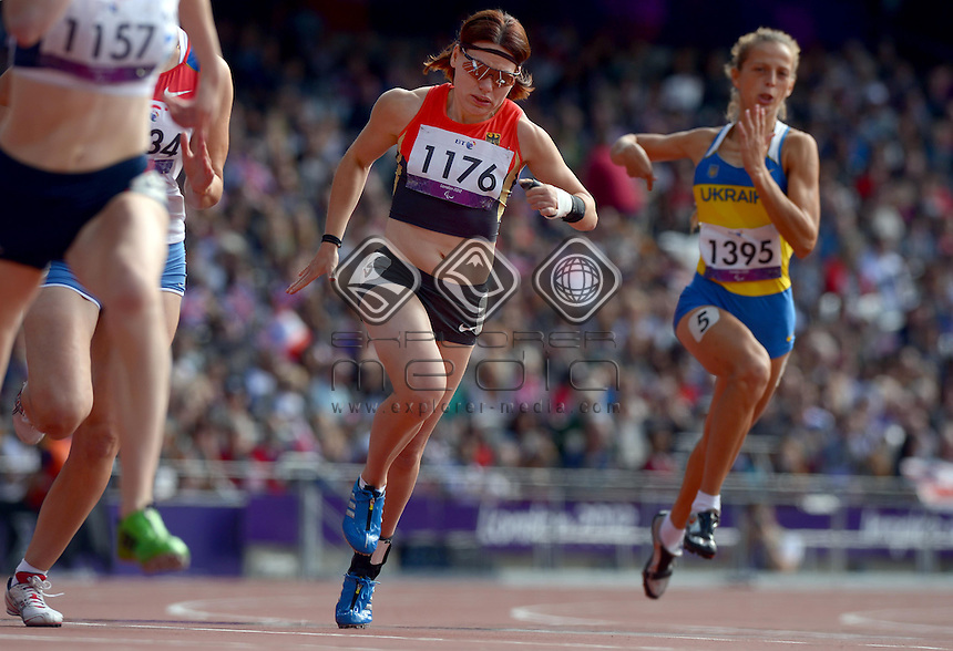 Isabelle Foerder (GER)<br /> Athletics: Women's 200m T- 37<br /> Olympic Stadium (Wednesday 5  Sept)<br /> Paralympics - Summer / London 2012<br /> London England 29 Aug - 9 Sept <br /> © Sport the library / Jeff Crow