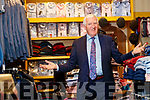 Sean Hussey back in business in his menswear shop in Ashe Street, Tralee on Thusday.