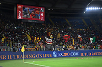 12th September 2021; Olimpico Stadium, Rome, Italy; Serie A championship football, AS Roma versus US Sassulo ; Roma's supporters