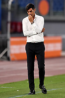 Paulo Fonseca coach of AS Roma during the Serie A football match between AS Roma and ACF Fiorentina at stadio Olimpico in Roma (Italy), July 26th, 2020. Play resumes behind closed doors following the outbreak of the coronavirus disease. <br /> Photo Antonietta Baldassarre / Insidefoto
