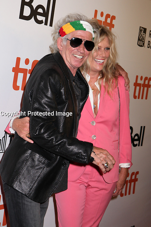 KEITH RICHARDS AND HIS WIFE PATTI HANSEN - RED CARPET OF THE FILM 'THE ROLLING STONES OLE OLE OLE! : A TRIP ACROSS LATIN AMERICA' - 41ST TORONTO INTERNATIONAL FILM FESTIVAL 2016 IN TORONTO, 16/09/2016. # FESTIVAL INTERNATIONAL DU FILM DE TORONTO 2016