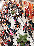 People at Toronto Eaton Centre shopping mall on Boxing day in 2011. Toronto, Ontario, Canada.