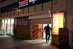 The Tesco Store in West street Drogheda, staff shocked after security guard stabbed, he was removed by ambulance to Our Lady of Lourdes Hospital in Drogheda.<br /> Picture www.newsfile.ie