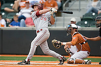 Stanford's Ben Clowe (29) follows through against the Texas Longhorns on March 4th, 2011 at UFCU Disch-Falk Field in Austin, Texas.  (Photo by Andrew Woolley / Four Seam Images)