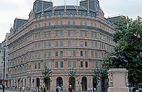 London: Trafalgar Square. Victorian Grand Buildings. A 1990 replica of the building it replaced!   Photo '05.