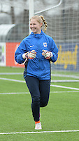 20160405  - Eibergen , NETHERLANDS : Finland's Tanja Kotoaro pictured during the soccer match between the women under 19 teams of Finland and Belarus , on the first matchday in group 3 of the UEFA Women Under19 Elite rounds in Eibergen , Netherlands. Tuesday 5 th April 2016 . PHOTO DIRK VUYLSTEKE / Sportpix.be