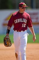 South Carolina first baseman Justin Smoak (12) on defense versus LSU at Sarge Frye Stadium in Columbia, SC, Thursday, March 18, 2007.