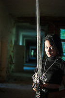 Model a sword and an old hospital.