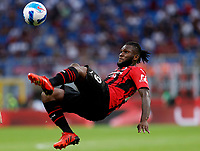 Franck Kessie of AC Milan in action during the Serie A 2021/2022 football match between AC Milan and SS Lazio at Giuseppe Meazza stadium in Milano (Italy), August 29th, 2021. Photo Image Sport / Insidefoto
