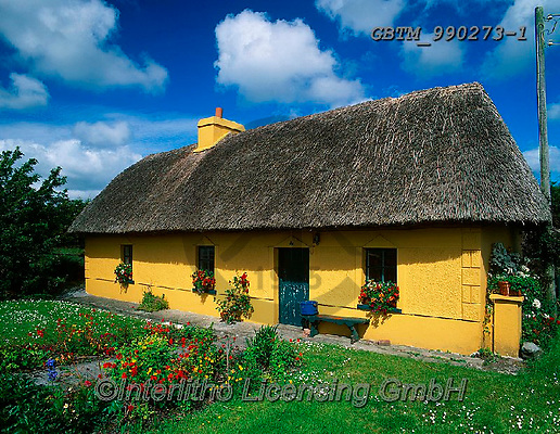 Tom Mackie, LANDSCAPES, LANDSCHAFTEN, PAISAJES, FOTO, photos,+6x7, building, buildings, chocolate box, cottage, cottage garden, cottages, dwelling, Eire, EU, Europa, Europe, European, flo+wer, flowerbed, flowers, garden, gardening, gardens, gardensgallery, home, horizontal, horizontally, horizontals, house, hous+es, Ireland, Irish, medium format, residence, thatch, thatched roof, traditional, yellow,6x7, building, buildings, chocolate+box, cottage, cottage garden, cottages, dwelling, Eire, EU, Europa, Europe, European, flower, flowerbed, flowers, garden, gar+,GBTM990273-1,#L#, EVERYDAY ,Ireland