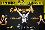 Slovenian Champion Matej Mohoric (SLO) Bahrain-Victorious from the breakaway wins Stage 7 of the 2021 Tour de France, running 249.1km from Vierzon to Le Creusot, France. 2nd July 2021.  <br /> Picture: A.S.O./Pauline Ballet | Cyclefile<br /> <br /> All photos usage must carry mandatory copyright credit (© Cyclefile | A.S.O./Pauline Ballet)