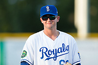 Burlington Royals pitcher Joey Markus (60) during the game against the Danville Braves at Burlington Athletic Stadium on August 12, 2017 in Burlington, North Carolina.  The Braves defeated the Royals 5-3.  (Brian Westerholt/Four Seam Images)