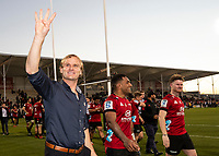 Crusaders coach Scott Robertson after winning the 2020 Super Rugby match between the Crusaders and Highlanders at Orangetheory Stadium in Christchurch, New Zealand on Saturday, 9 August 2020. Photo: Joe Johnson / lintottphoto.co.nz