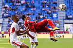 Nguyen Trong Hoang of Vietnam (R) fights for the ball with Salem Alajalin of Jordan (L) during the AFC Asian Cup UAE 2019 Round of 16 match between Jordan (JOR) and Vietnam (VIE) at Al Maktoum Stadium on 20 January 2019 in Dubai, United Arab Emirates. Photo by Marcio Rodrigo Machado / Power Sport Images
