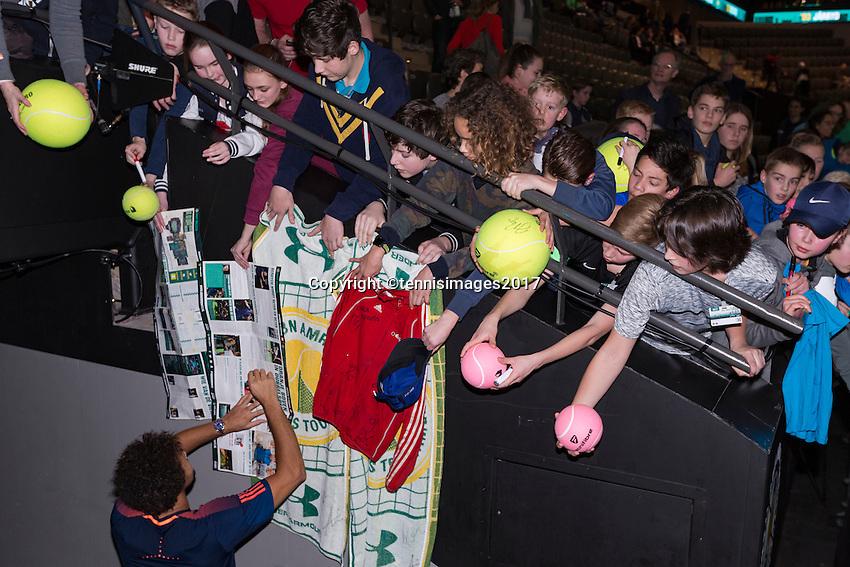 ABN AMRO World Tennis Tournament, Rotterdam, The Netherlands, 18 Februari, 2017, Tomas Berdych (CZE), Jo-Wilfried Tsonga (FRA)<br /> Photo: Henk Koster