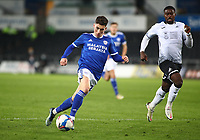 20th March 2021; Liberty Stadium, Swansea, Glamorgan, Wales; English Football League Championship Football, Swansea City versus Cardiff City; Harry Wilson of Cardiff City controls the ball