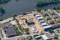 Hafencity Geesthacht: EUROPA, DEUTSCHLAND, GEESTHACHT, SCHLESWIG HOLSTEIN,  (EUROPE, GERMANY), 1.09.2021: Hafencity Geesthacht