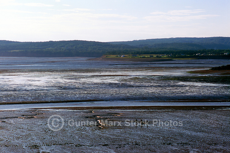 "Bay of Fundy (Minas Basin), Tidal Mud Flats at ""Five Islands"", NS, Nova Scotia, Canada - Atlantic Ocean Coastline - Fundy Shore & Annapolis Valley Region"