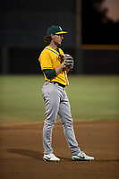 AZL Athletics third baseman Austin Piscotty (13) during an Arizona League game against the AZL Giants Black at the San Francisco Giants Training Complex on June 19, 2018 in Scottsdale, Arizona. AZL Athletics defeated AZL Giants Black 8-3. (Zachary Lucy/Four Seam Images)