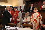 Court of Arraye, inspection of Men and Arms. Lichfield Greenhill Bower. Interior The Guildhall. Lichfield Staffordshire