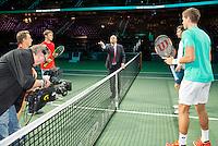 Rotterdam, The Netherlands, February 13, 2016,  ABNAMROWTT, Nicolas Mahut (FRA) - Vasek Pospisil (CAN), Henri Kontinen (FIN) - John Peers (AUS)<br /> Photo: Tennisimages/Henk Koster