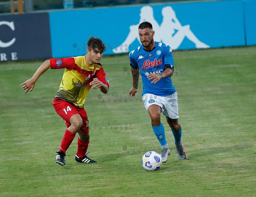 Diego Demme   durante il Triangolare precampionato nel ritiro estivo  tra Napoli , L'Aquila e il Castel Di Sangro allo stadio Patini