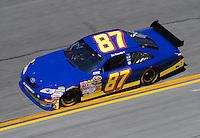 Feb 07, 2009; Daytona Beach, FL, USA; NASCAR Sprint Cup Series driver Joe Nemechek during practice for the Daytona 500 at Daytona International Speedway. Mandatory Credit: Mark J. Rebilas-