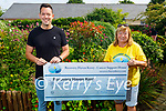Shane Dreelan from Ballymac who climbed Kerry's 5 highest peaks as a fundraiser for Recovery Haven, presented a cheque for € 8,284:49 to Kathleen Collins at Recovery Haven on Tuesday.