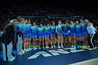 The Mystics celebrate winning the ANZ Premiership netball final between Northern Mystics and Mainland Tactix at Spark Arena in Auckland, New Zealand on Sunday, 8 August 2021. Photo: Dave Lintott / lintottphoto.co.nz