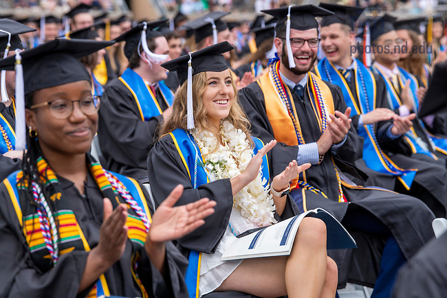May 23, 2021; The 176th Commencement Ceremony in Notre Dame Stadium. (Photo by Barbara Johnston/University of Notre Dame)