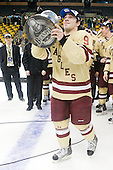 Barry Almeida (BC - 9) - The Boston College Eagles defeated the Boston University Terriers 3-2 (OT) to win the 2012 Beanpot championship on Monday, February 13, 2012, at TD Garden in Boston, Massachusetts.
