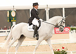 22 April 2010. Courageous Comet and Becky Holder score 45.2 and take second place on the first day of the Dressage test at the Rolex Three Day Event in Lexington, Ky.