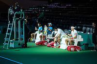 Rotterdam, The Netherlands, February 12, 2016,  ABNAMROWTT, Jean-Julien Rojer (NED) / Horia Tecau (ROU) - Nedad Zimonij (SRB) / Gilles Muller (LUX)<br /> Photo: Tennisimages/Henk Koster