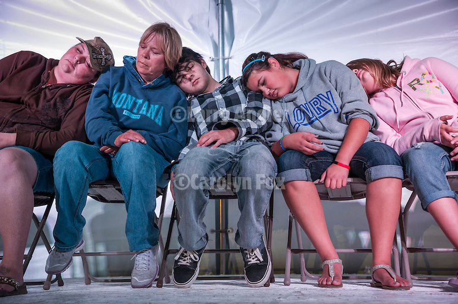 Winnemucca's Tri County Fair, Labor Day weekend..Hypnotist on the stage