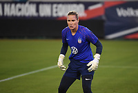JACKSONVILLE, FL - NOVEMBER 10: Ashlyn Harris #18 of the United States warming up during a game between Costa Rica and USWNT at TIAA Bank Field on November 10, 2019 in Jacksonville, Florida.