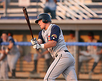 2007:  Erik Huber of the State College Spikes at bat during a game vs. the Batavia Muckdogs in New York-Penn League baseball action.  Photo By Mike Janes/Four Seam Images