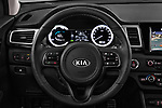 Car pictures of steering wheel view of a 2017 KIA Niro Sense 5 Door SUV Steering Wheel