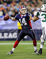 3 December 2009: Buffalo Bills' quarterback Ryan Fitzpatrick in action against the New York Jets at the Rogers Centre in Toronto, Ontario, Canada. The Bills fell to the Jets 19-13. Mandatory Credit: Ed Wolfstein Photo