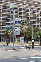 Dakar, Senegal. Advertisements, Parking Meter,  Independence Square, Place de l'Independence.