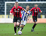 Kilmarnock v St Johnstone...05.04.14    SPFL<br /> Brian Easton gets away from Rory McKenzie<br /> Picture by Graeme Hart.<br /> Copyright Perthshire Picture Agency<br /> Tel: 01738 623350  Mobile: 07990 594431