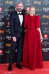 Jaime Miguel de los Santos and Cristina Cifuentes attends red carpet of Goya Cinema Awards 2018 at Madrid Marriott Auditorium in Madrid , Spain. February 03, 2018. (ALTERPHOTOS/Borja B.Hojas)
