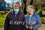 Enjoying a stroll in Listowel town park on Sunday, l to r: Kevin Smith and Marcelle Graham