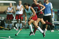 6 November 2007: Stanford Cardinal Rachel Bush during Stanford's 1-0 win against the Lock Haven Lady Eagles in an NCAA play-in game to advance to the NCAA tournament at the Varsity Field Hockey Turf in Stanford, CA.