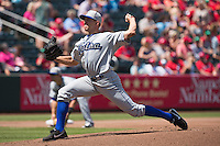Tyler Anderson (31) of the Tulsa Drillers delivers a pitch during a game against the Springfield Cardinals at Hammons Field on May 4, 2014 in Springfield, Missouri. (David Welker/Four Seam Images)