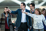 (L-R) Andrea Levy, Prime ministre Mariano Rajoy and Isabel Bonig during the PP electoral program presentation for the Spanish Generals elections in Valencia. November 28, 2015. (ALTERPHOTOS/Javier Comos)