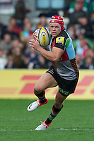 Matt Hopper of Harlequins in action during the Aviva Premiership match between Harlequins and Saracens at the Twickenham Stoop on Sunday 30th September 2012 (Photo by Rob Munro)