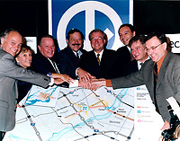 Press Conference for the construction of the Montreal subway to Laval